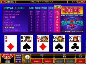 online-video-poker-variation-tens-or-better